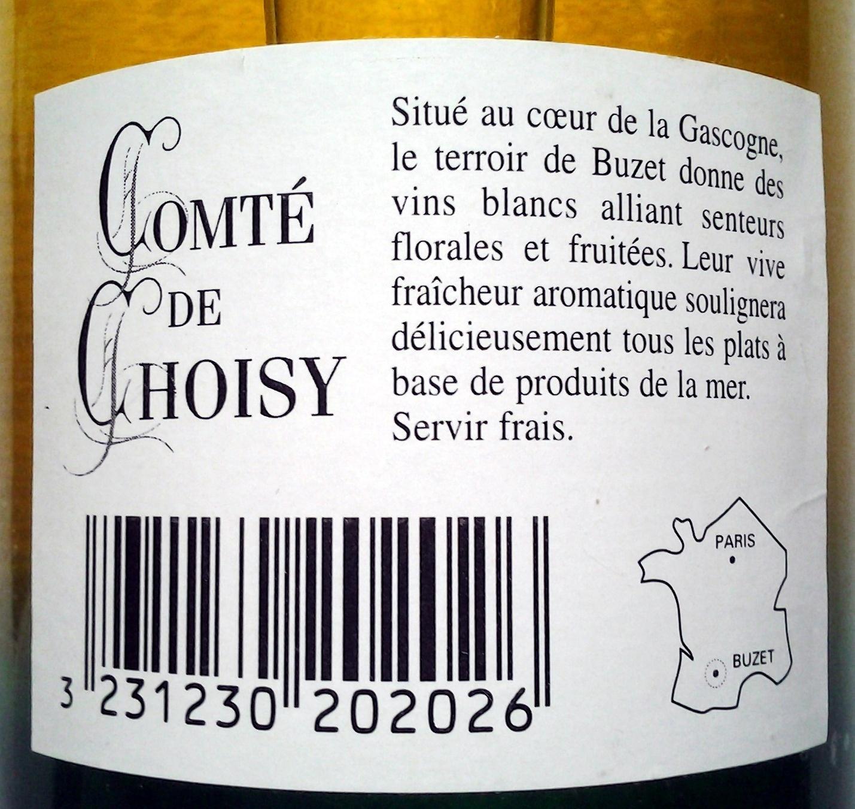 Comté de Choisy Buzet 2002 - Ingrédients