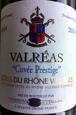 Valréas Cuvée Prestige - Product - fr