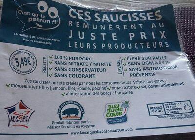 Saucisses de Toulouse C'est qui le Patron ?! - Produit