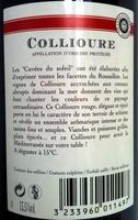 Collioure 2011 - Ingrediënten