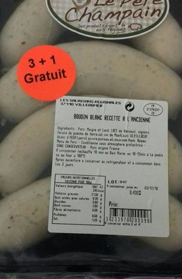 Boudin blanc à l'ancienne - Produit - fr