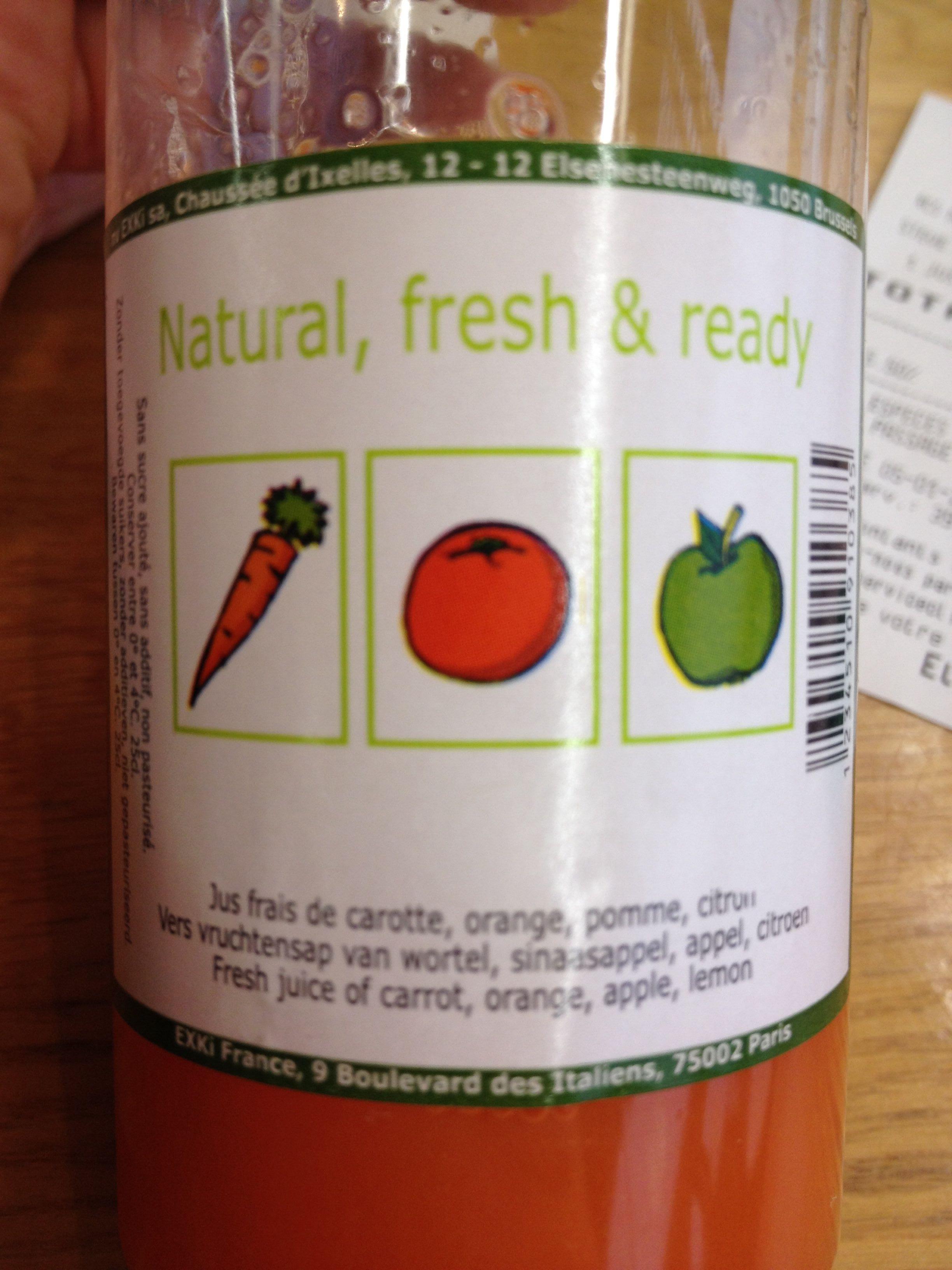 Natural, fresh & ready - Product