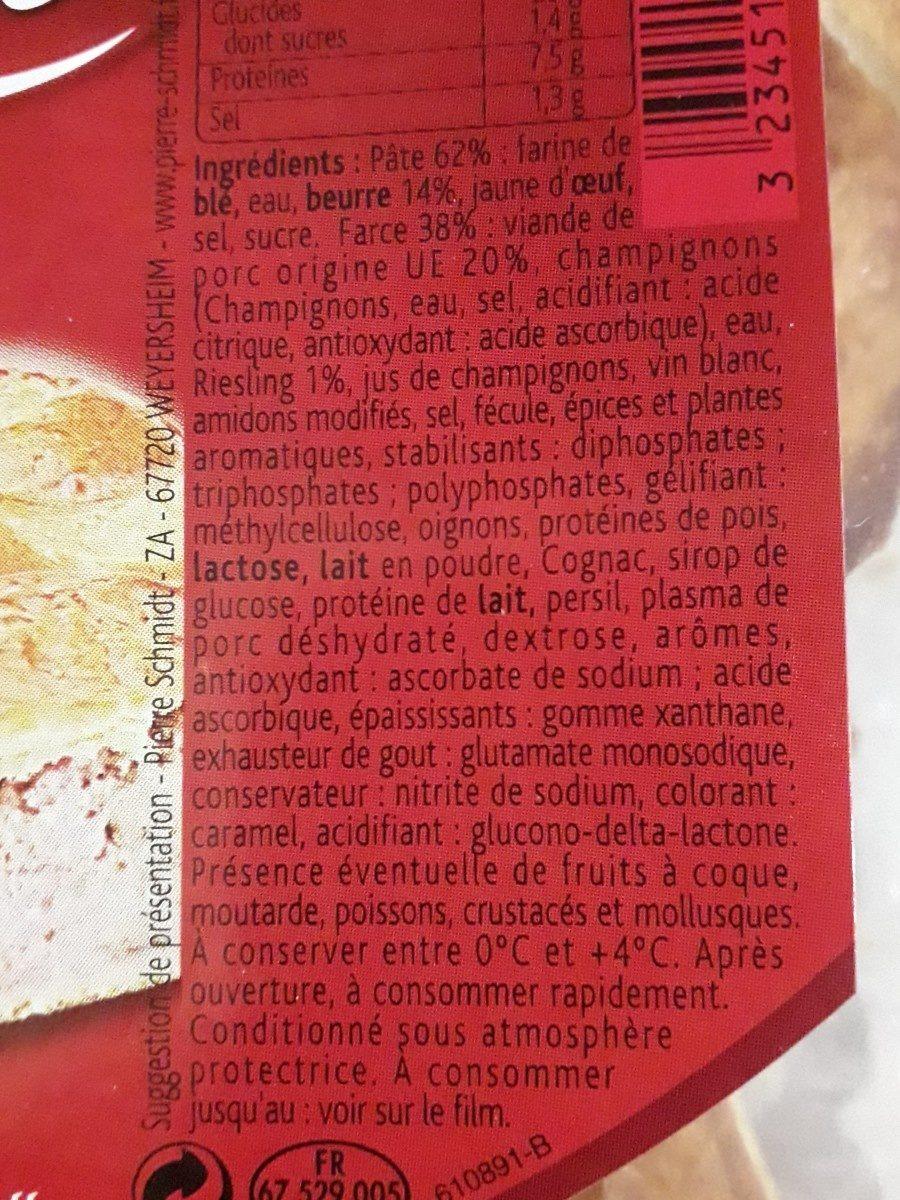 Tourte alsacienne à la viande - Ingredientes - fr