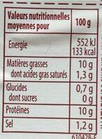aspic - Informations nutritionnelles - fr