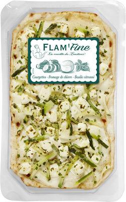 Tarte flambée fine aux courgettes, fromage de chèvre et basilic - Produit - fr