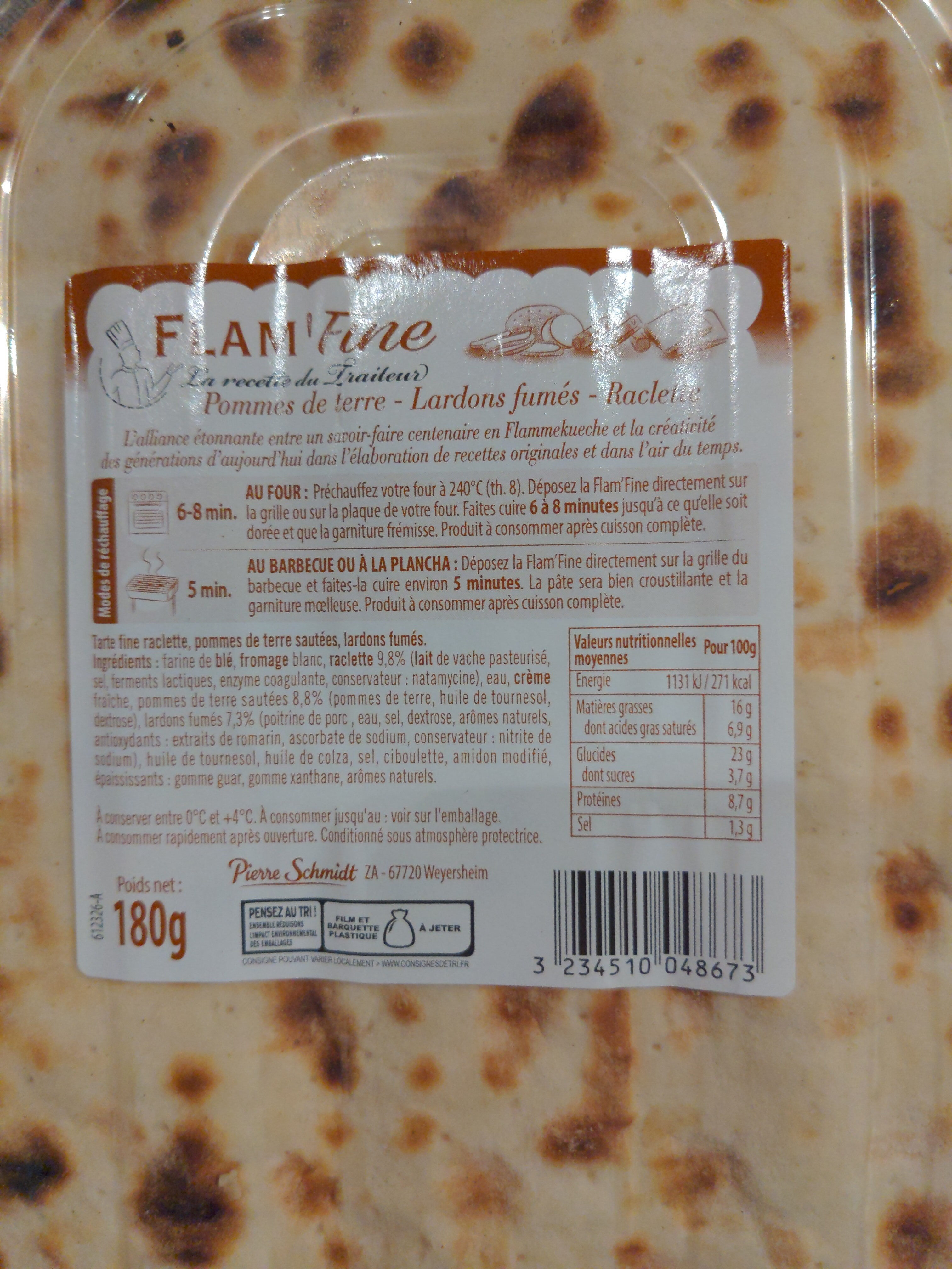 Flam'Fine - Informations nutritionnelles - fr