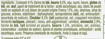 Croissant au poulet et cheddar - Ingrédients - fr