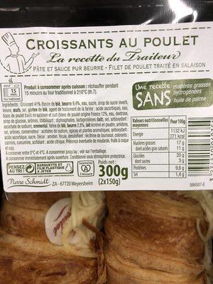 Tout frais , tout prêt !, Croissant au poulet, la barquette de 2 300 g - Ingredients