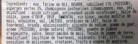 Croustade Cabillaud Asperge CGE - Ingrédients