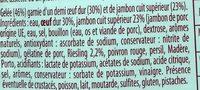Aspic d'œuf au jambon - Ingrédients - fr