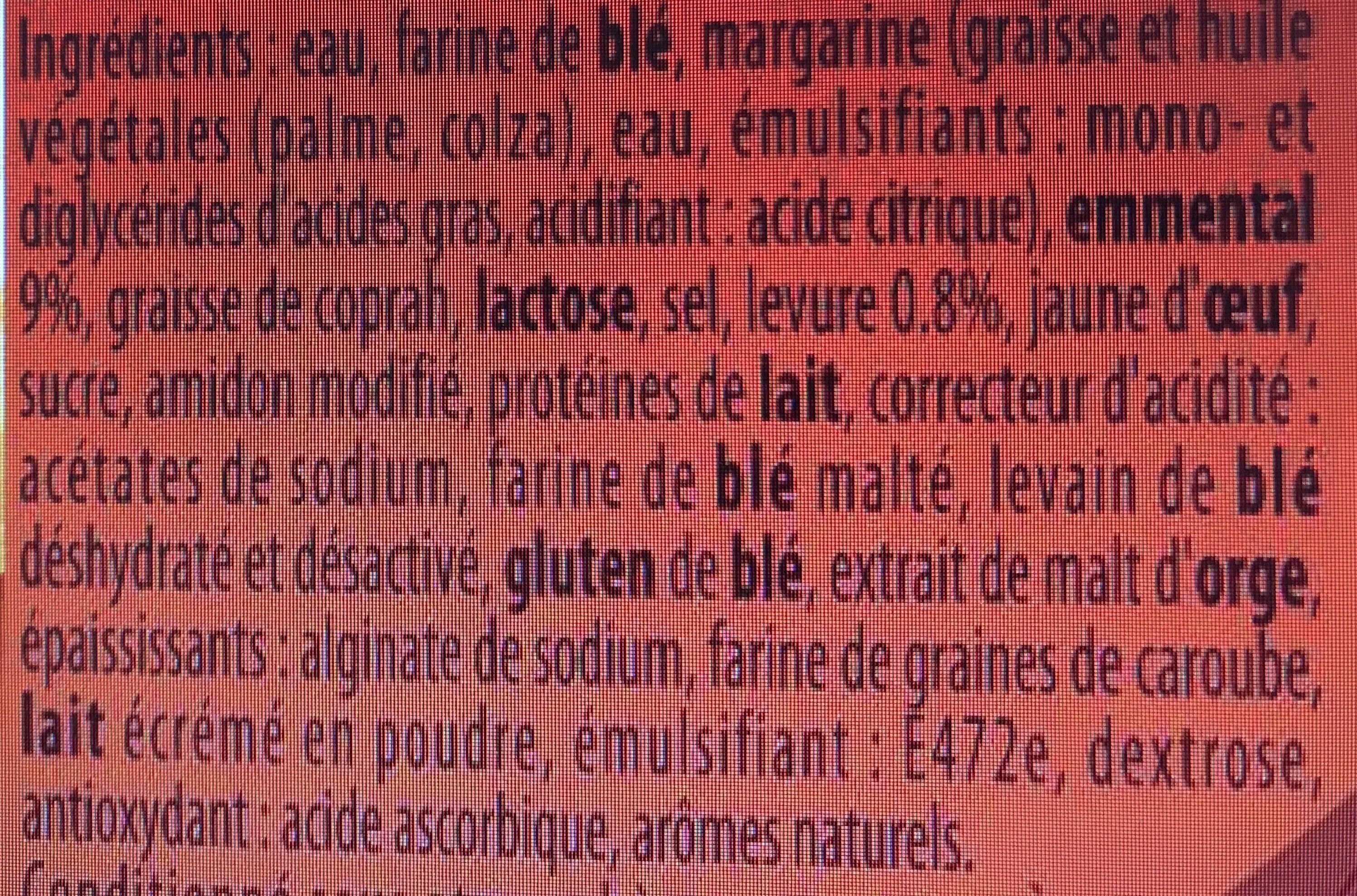 Bûchettes recette de famille à l'emmental - Ingrédients - fr