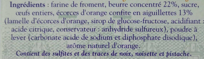 Palets Blésois aux Aiguillettes d'Orange - Ingrediënten - fr