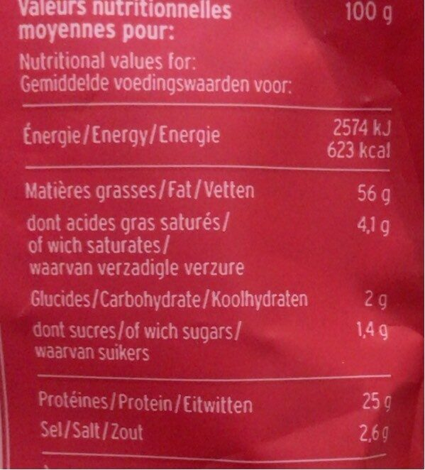 Amandes au piment d'espelette - Informations nutritionnelles - fr