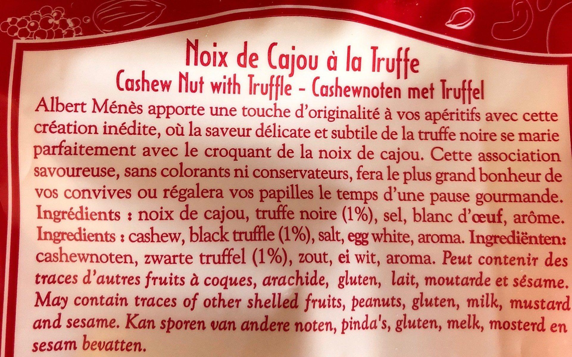 Noix de Cajou à la Truffe - Ingrédients - fr