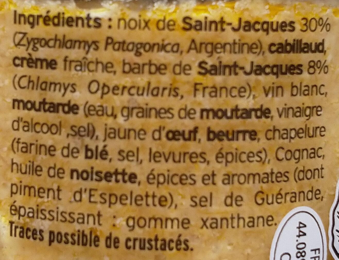 Rillettes de Noix de Saint-Jacques - Ingrédients - fr