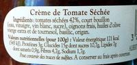 BIO Crème de Tomate Séchée - Ingrédients - fr