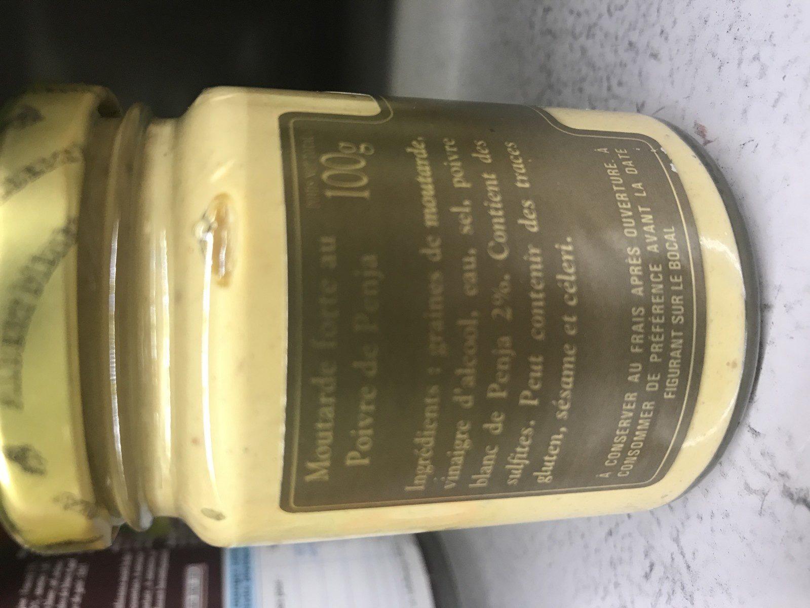 Moutarde forte au Poivre de penja - Ingrédients - fr