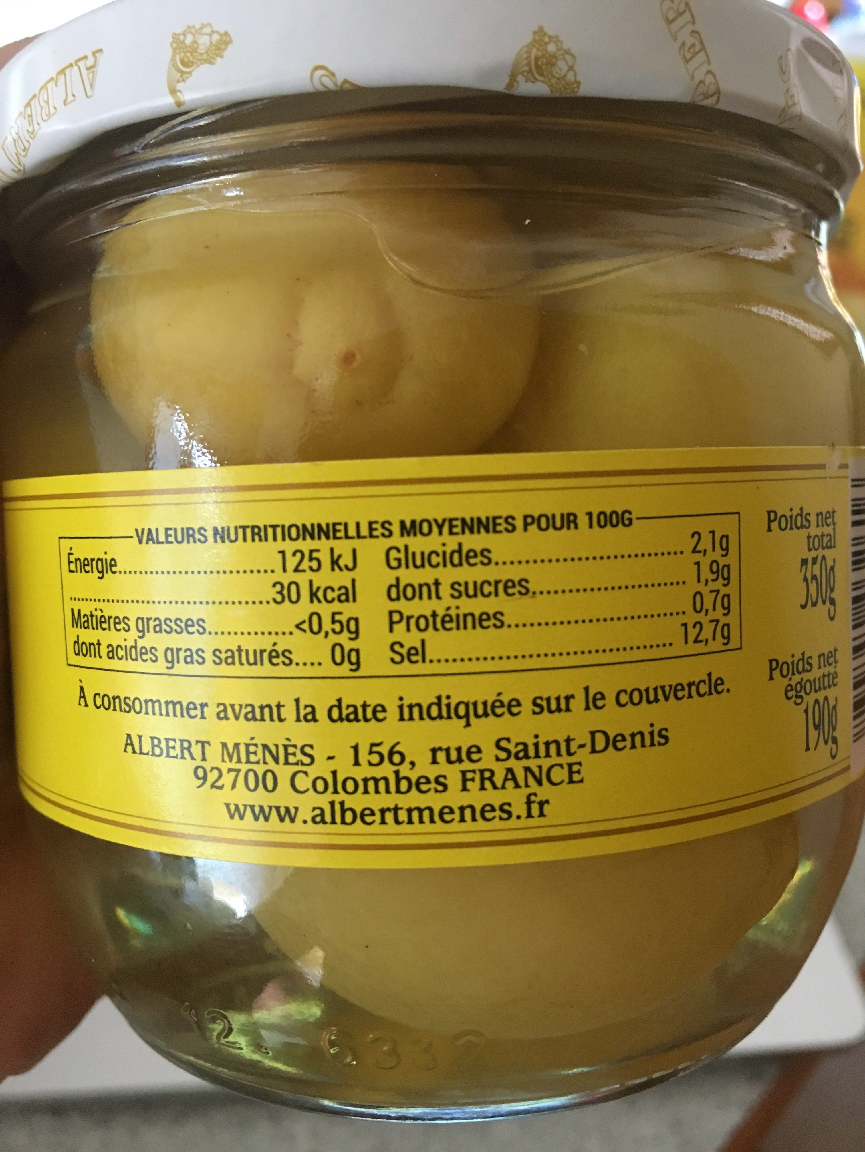 Citrons confits Beldi  entiers - Ingrediënten - fr