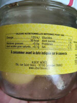 Citrons confits Beldi  entiers - Voedingswaarden - fr