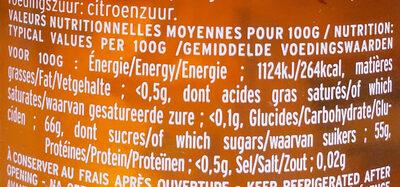 Confit de pétales de rose de Provence - Informazioni nutrizionali - fr