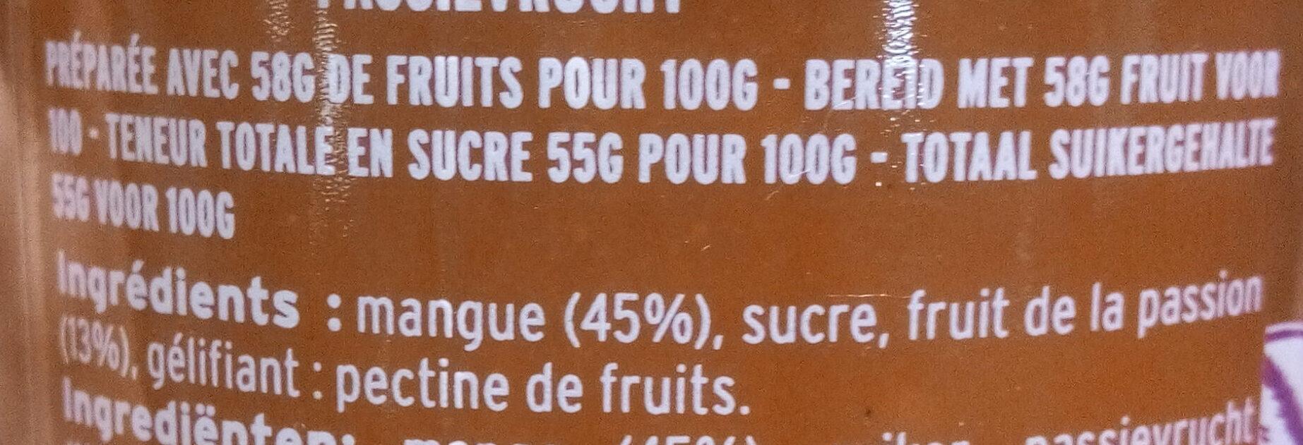 Mangue passion - Ingredients
