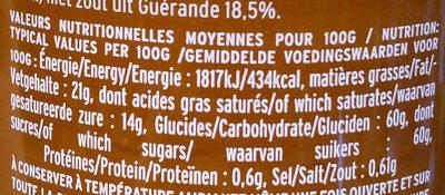 Crème De Caramel Au Beurre Salé Au Sel De Guérande - Informations nutritionnelles - fr