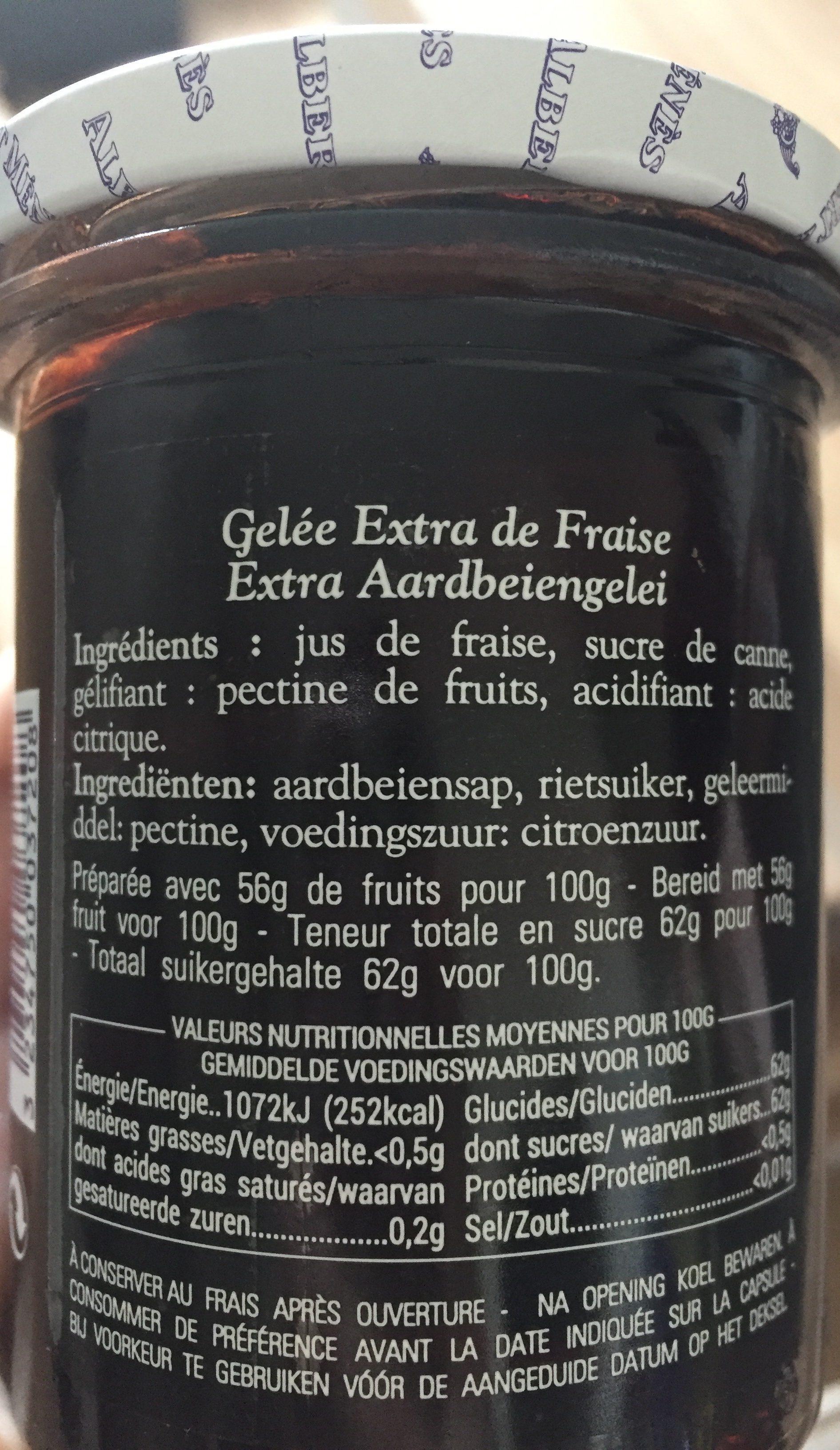 Gelée Extra de Fraise - Ingrédients - fr