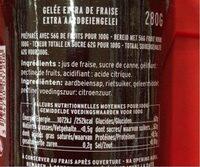Gelée Extra de Fraise - Informations nutritionnelles - fr