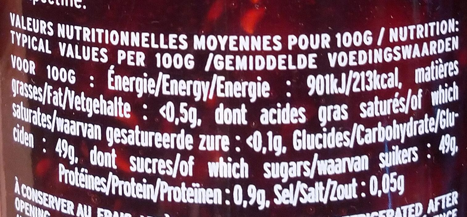 Framboise Willamette - Informations nutritionnelles - fr