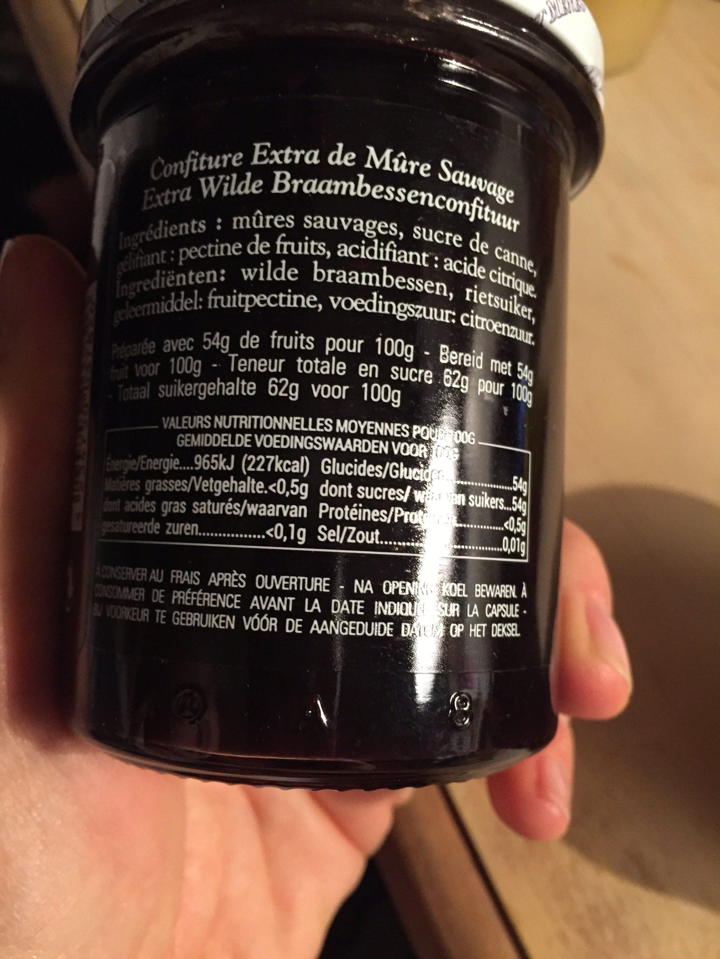Confiture Extra De Mûre Sauvage - Ingrédients - fr
