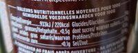 Confiture Extra Fraise à la Menthe - Informations nutritionnelles - fr
