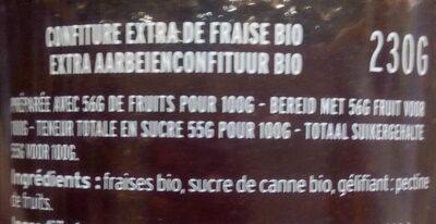 Fraise bio - Ingrédients