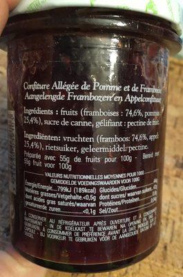 Confiture Allégée de Pomme de France et de Framboise - Ingrediënten - fr