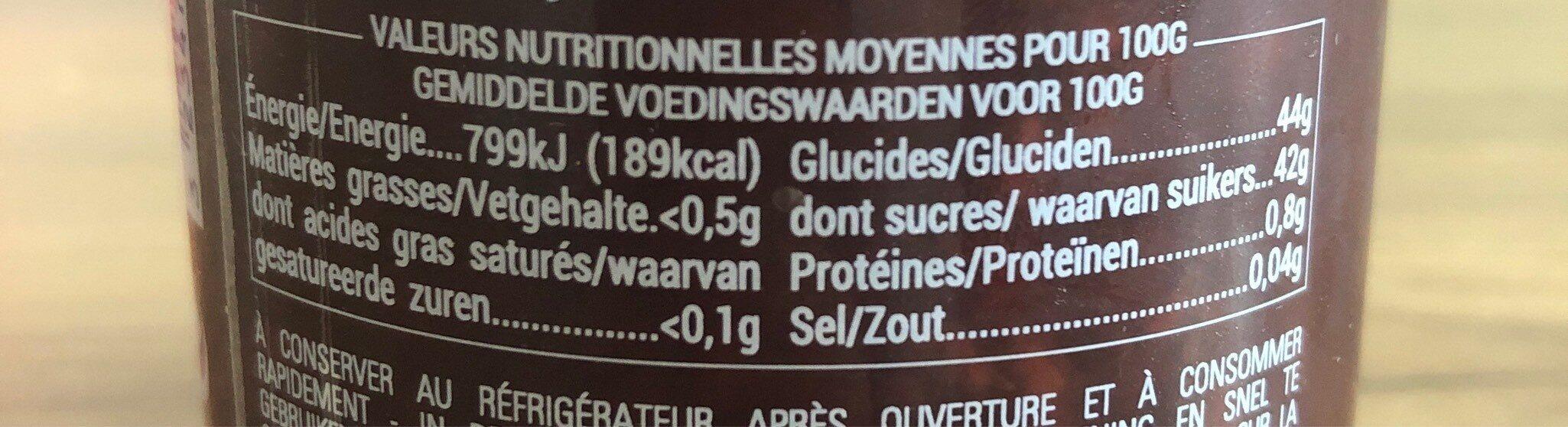 Confiture Allégée de Pomme de France et de Framboise - Voedingswaarden - fr