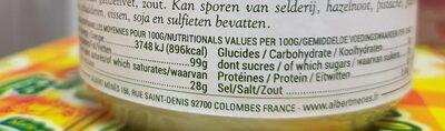 Graisse d'Oie Préparée dans les Landes - Informations nutritionnelles - fr
