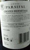 Crozes-Hermitage 2017 - Valori nutrizionali - fr