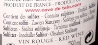 Crozes-Hermitage 2015 Grand Classique - Ingrediënten