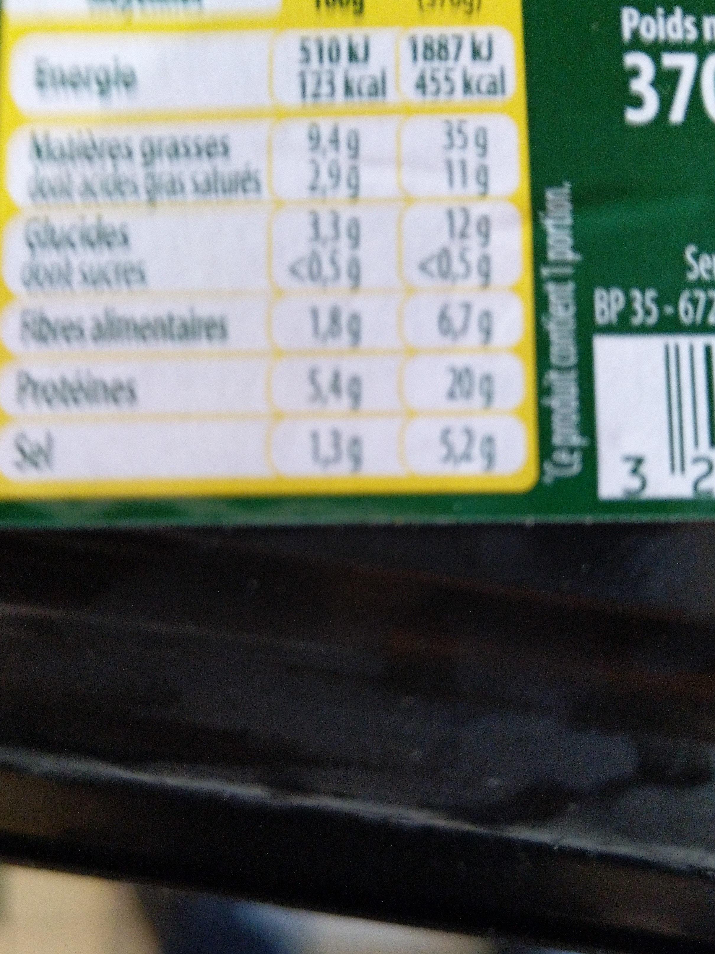 P'tite Choucroute du jour - Informations nutritionnelles - fr