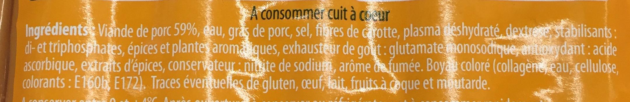 La Francfort - Ingrédients