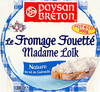 Le Fromage Fouetté Madame Loïk, Nature au sel de Guérande (25 % MG) Pot €co - Product