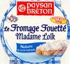 Le Fromage Fouetté Madame Loïk, Nature au sel de Guérande (25 % MG) Pot €co -