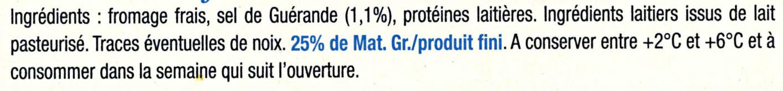 Le Fromage Fouetté Madame Loïk, Nature au sel de Guérande (25 % MG) Pot €co - Ingrédients - fr