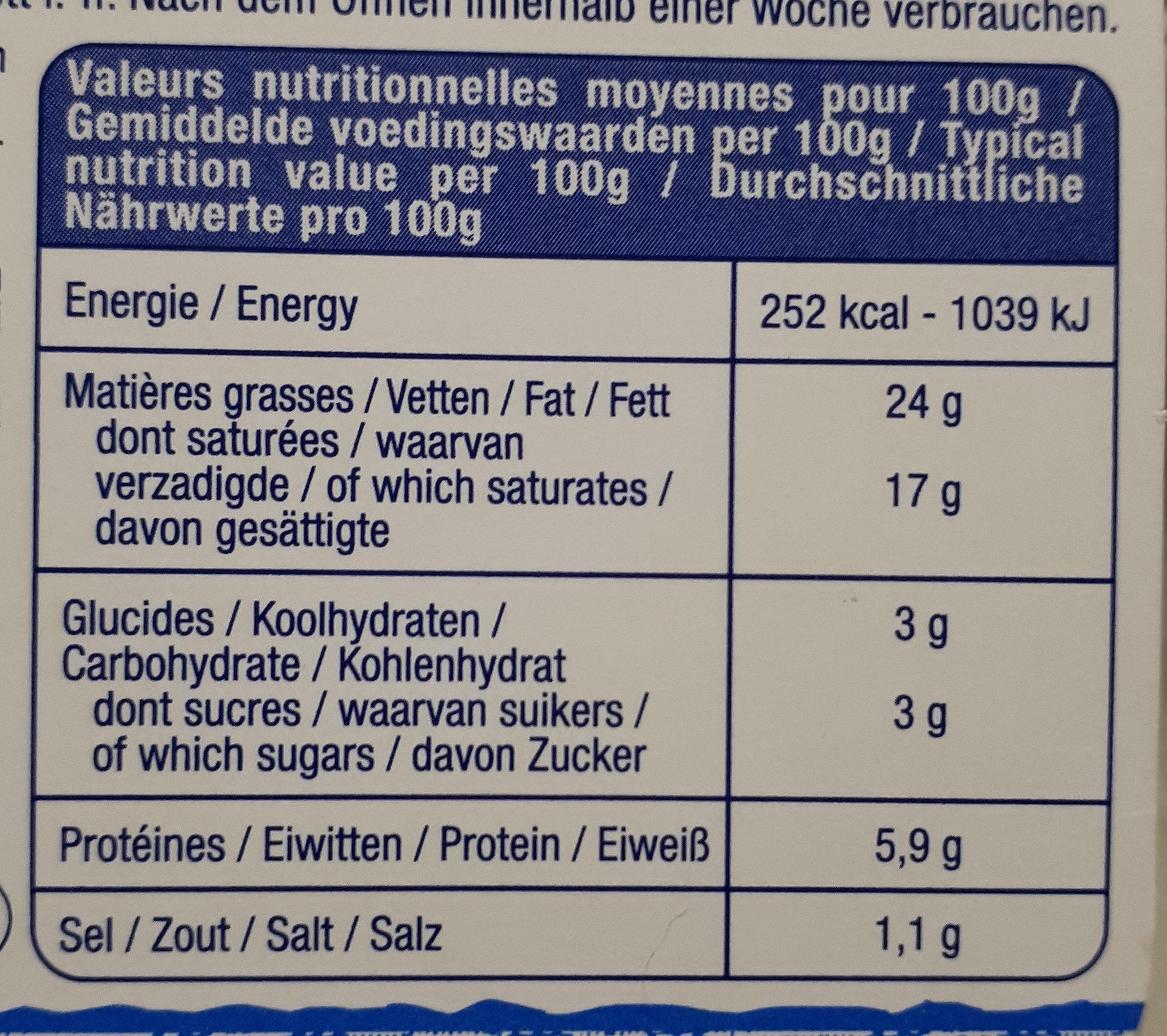 madame Loïk - Nutrition facts