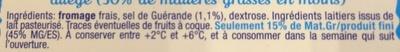 Fromage fouetté nature au sel de Guérande - Ingrédients - fr