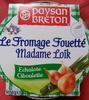 Le Fromage Fouetté Madame Loïk, Echalote Ciboulette (23 % MG)  - Produit