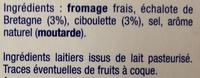 Le Fromage Fouetté Madame Loïk, Échalote Ciboulette - Ingrédients - fr
