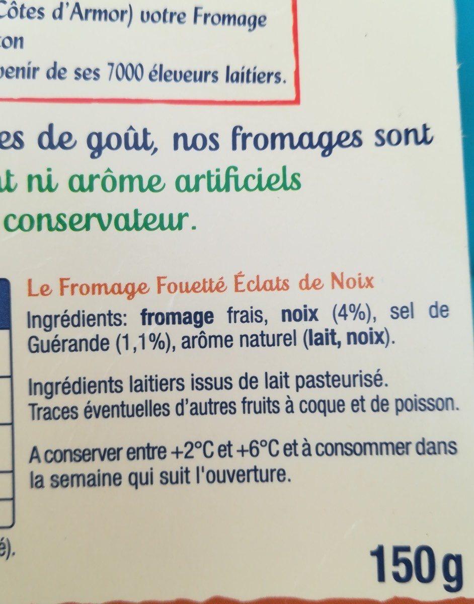 Madame Loïk éclats de noix - Ingrédients - fr