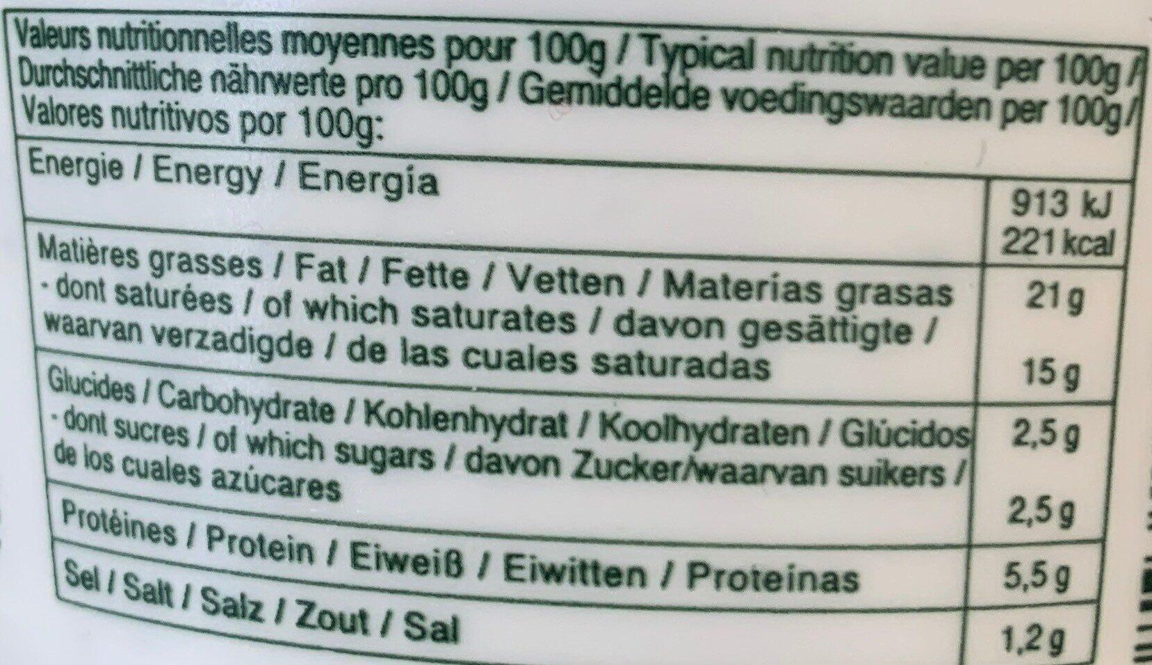 Fromage Ail et Fines Herbes - Informations nutritionnelles - fr