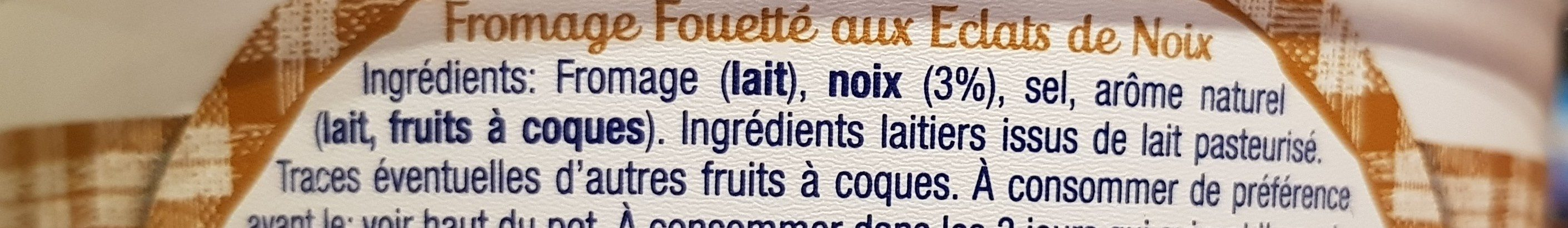 Fromage Fouetté Aux Noix Madame Loïk - Ingrediënten - fr