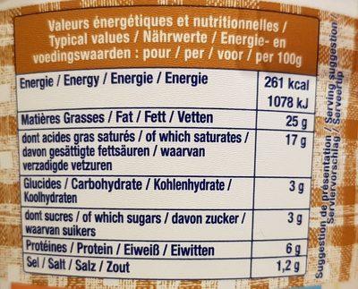 Fromage Fouetté Aux Noix Madame Loïk - Voedingswaarden - fr